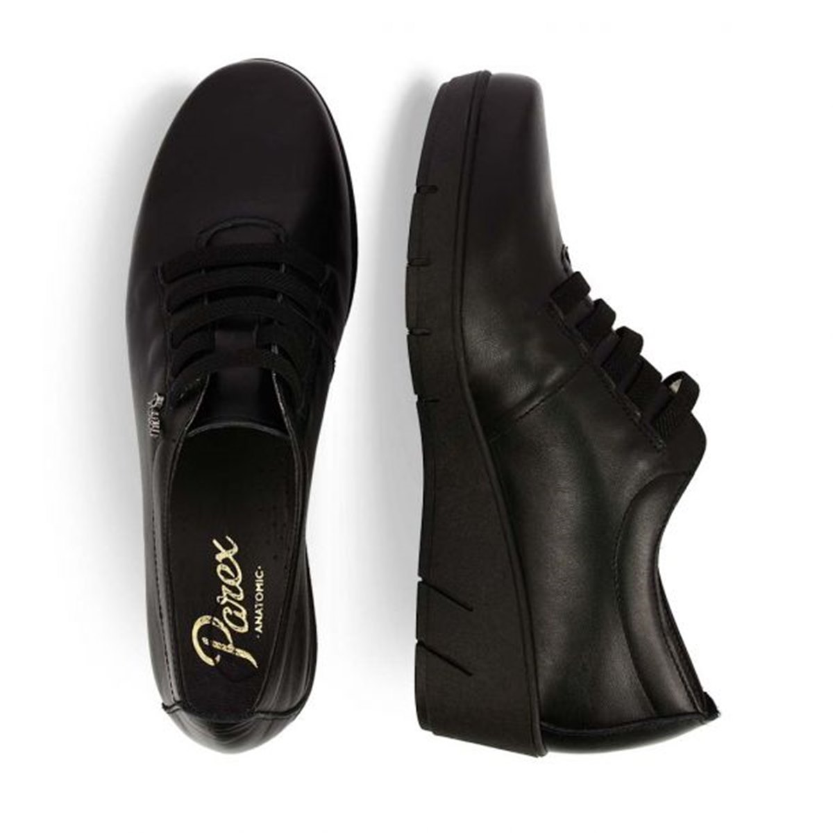 Γυναικεία Δερμάτινα sneaker Parex 10720002 μαύρο