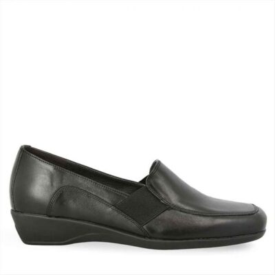 Γυναικεία Δερμάτινα Slip On Parex 12922012 μαύρο
