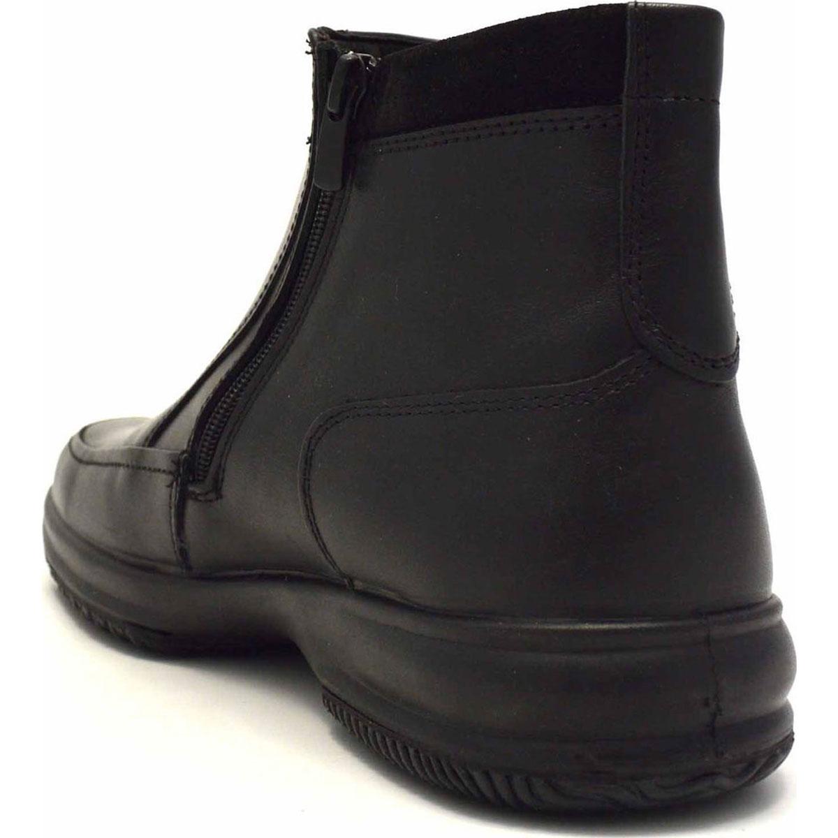 Ανδρικό δερμάτινο Μαύρο μποτάκι BOXER original 12101-14-111