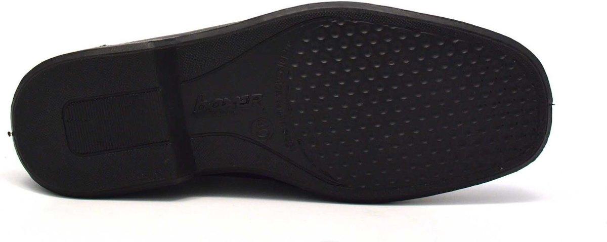 Ανδρικό δερμάτινο Μαύρο Παντοφλέ BOXER original 10052-14-111