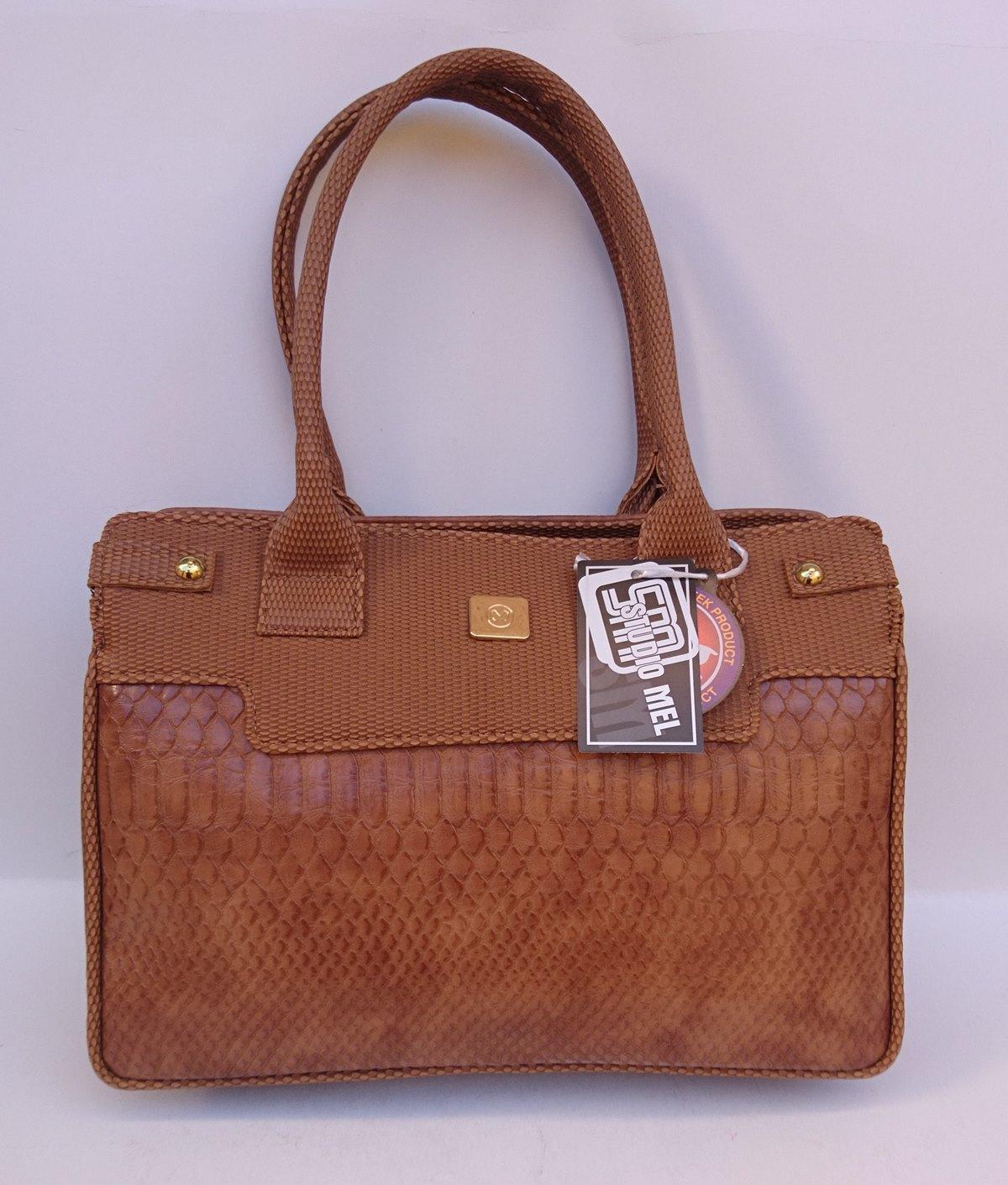 Γυναικεία τσάντα χεριού STUDIO MEL κάμελ 5101