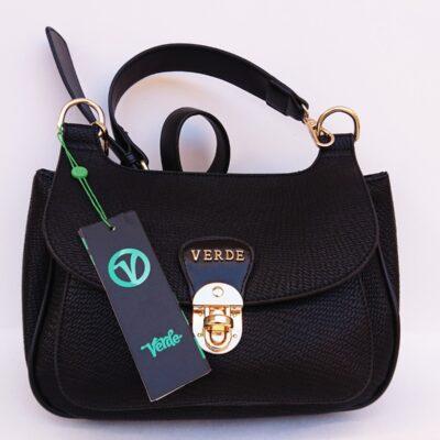 Γυναικεία τσάντα ώμου χιαστί VERDE 16-0005109 μαύρο