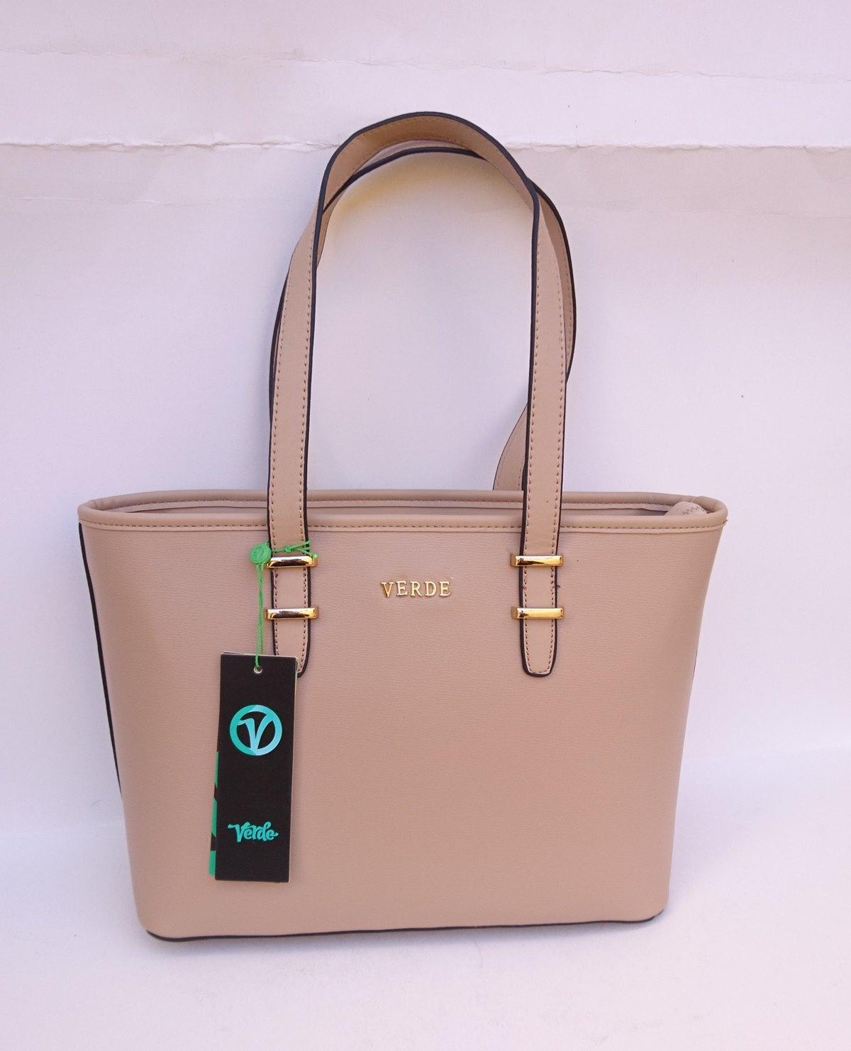 Γυναικεία τσάντα ώμου VERDE 16-0004999 μπεζ