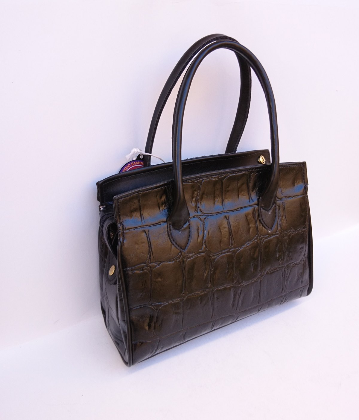 Γυναικεία τσάντα χεριού ώμου 5555 STUDIO MEL μαύρη ανάγλυφο