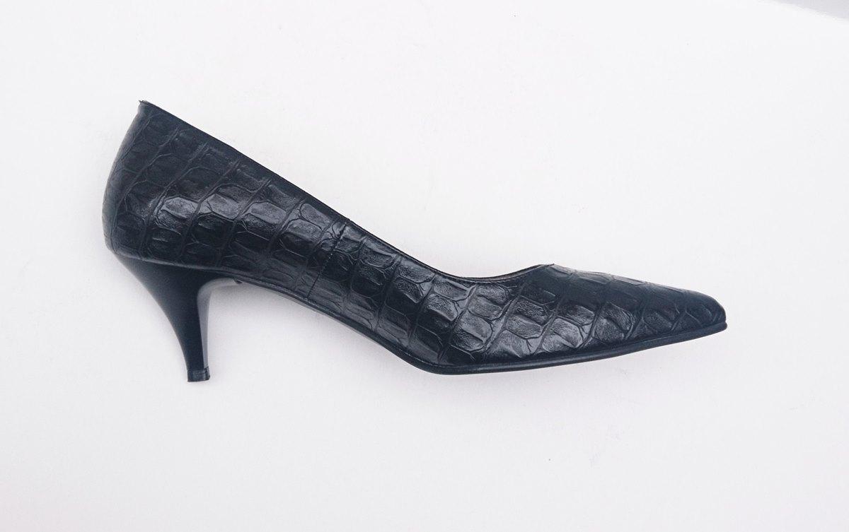 Γυναικεία γόβα ELLEN 51200 μαύρο κροκό