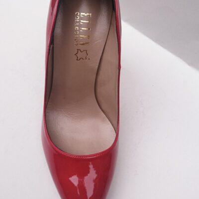 Γυναικεία γόβα ELLEN 81623-K κόκκινο βερνί