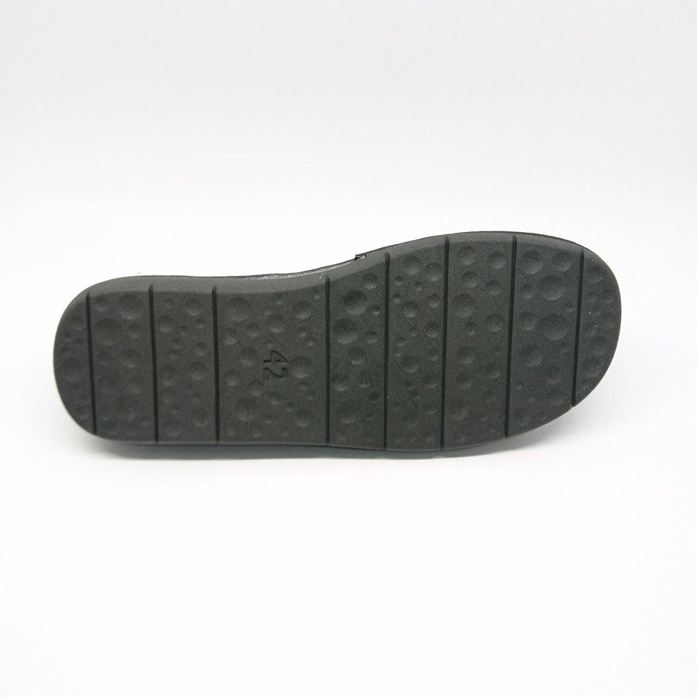 Ανδρικές παντόφλες δωματίου γνήσιο δέρμα BOXER 18014-10-011 Μαύρο