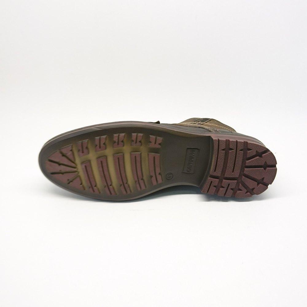 Ανδρικό μποτάκι CANGURO A187-303 δετό Μαύρο-ματ