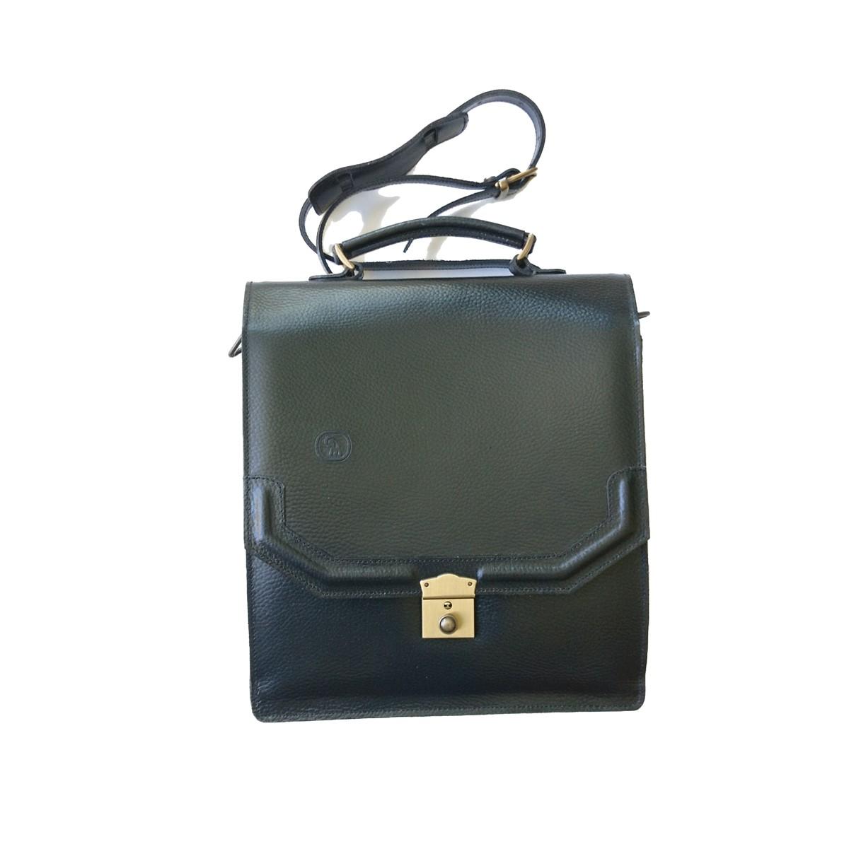 Ανδρική Τσάντα Ώμου Μαύρο Δέρμα GREGORY 7373