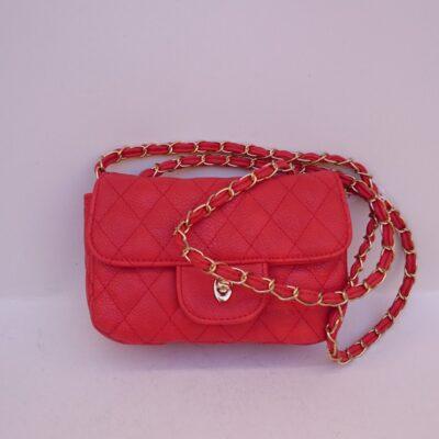Γυναικείο τσαντάκι με αλυσιδάκι κωδ.6520R κόκκινο