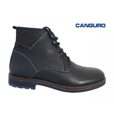 Canguro Casual Μποτάκια Δερμάτινα Guyana A162-302 Μαύρα