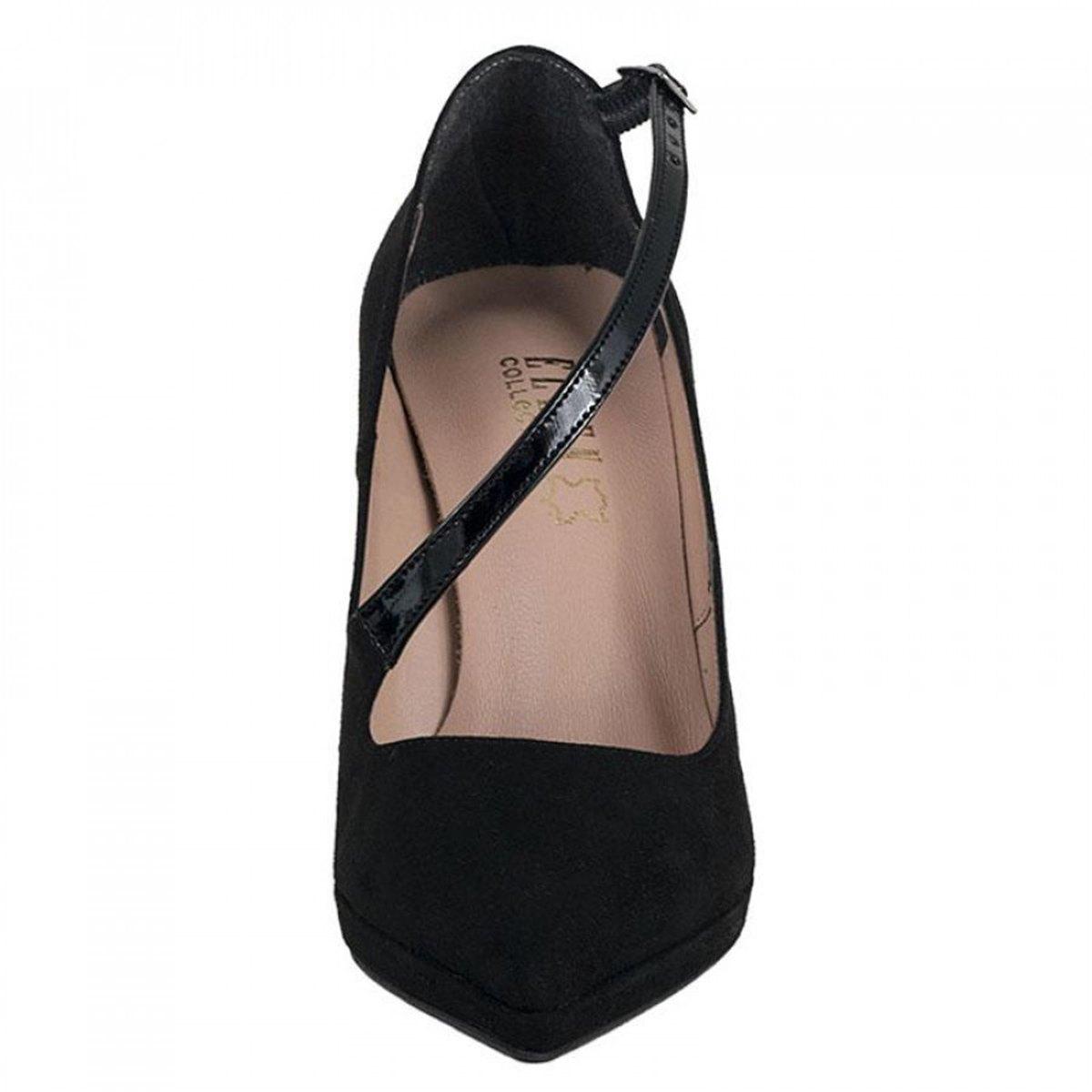 Γυναικεία γόβα ELLEN 16706 μαύρο καστόρι