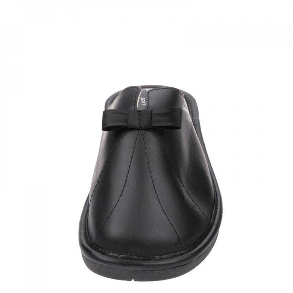 Γυναικείες παντόφλες δωματίου γνήσιο δεμα Boxer 68001-10-011 Μαύρο