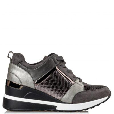 Miss NV Sneakers V85-12405-23 Γκρί ατσαλί