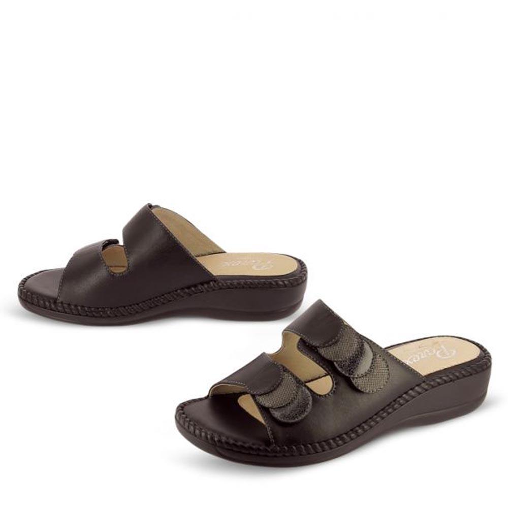 Γυναικειες Παντοφλες Comfort Me Velcro Parex 12117006.Μ ΜΑΥΡΟ