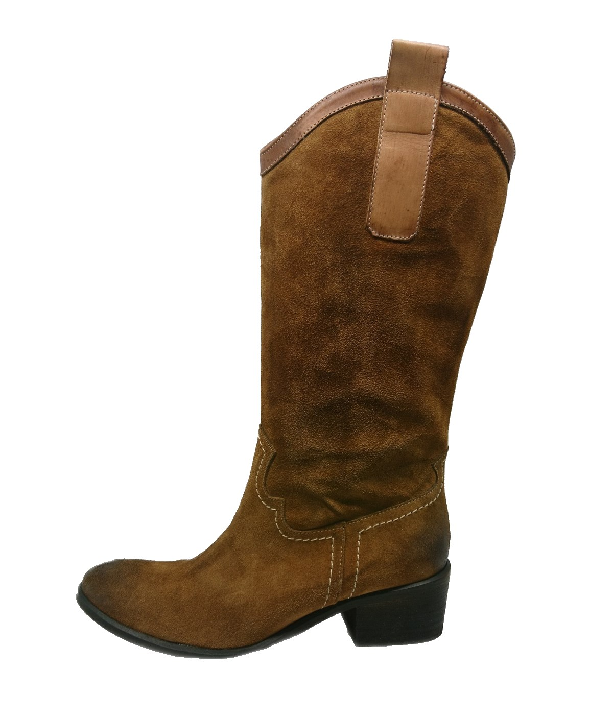 Γυναικείες μπότες western style γνήσιο δέρμα modello 20800 by exe.