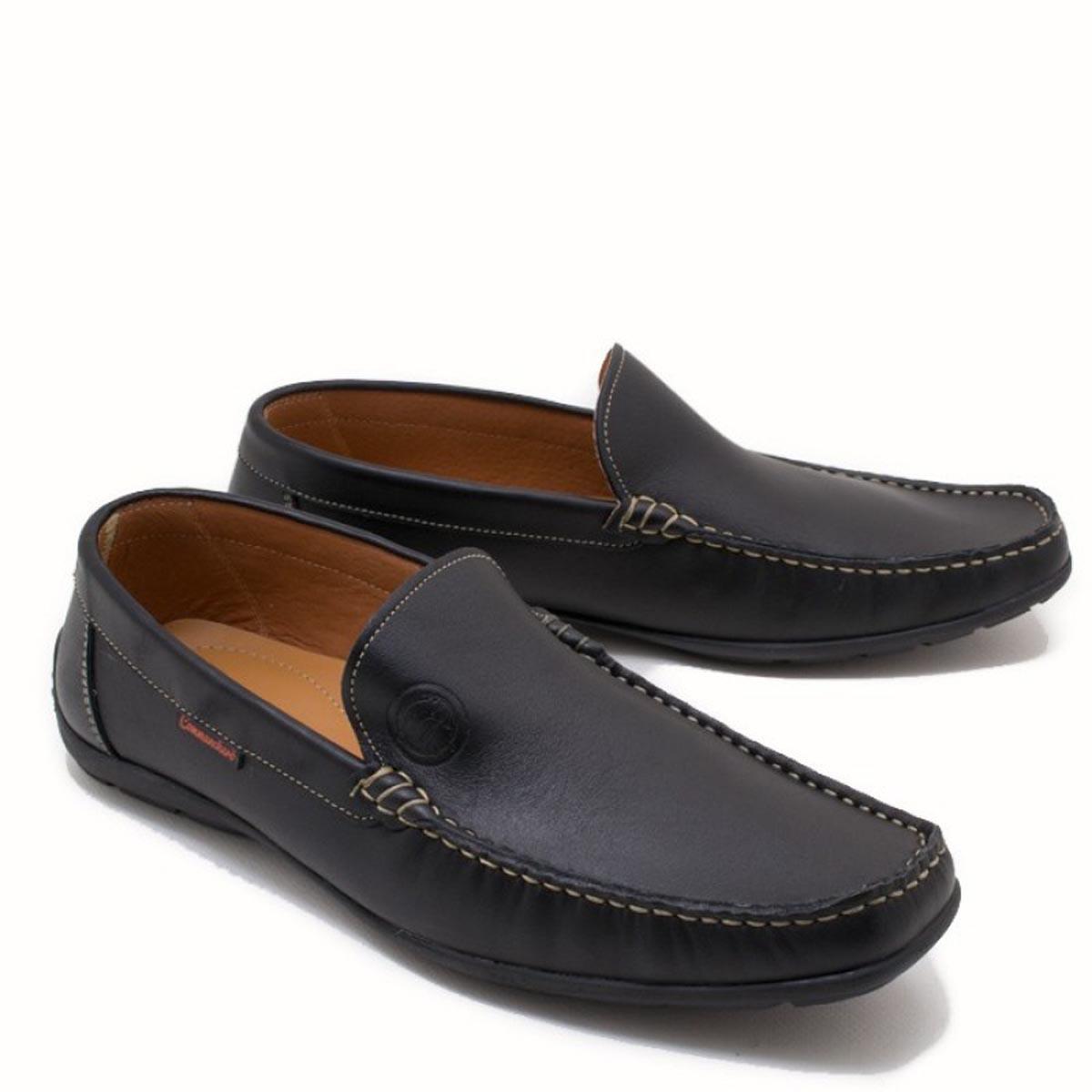 Ανδρικα loafers Commachero 815-221 ΜΑΥΡΟ
