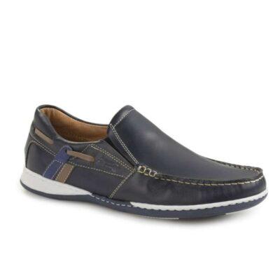 Boxer shoes 21120 12-016 Μπλέ Boat Ανδρικά Μοκασίνια