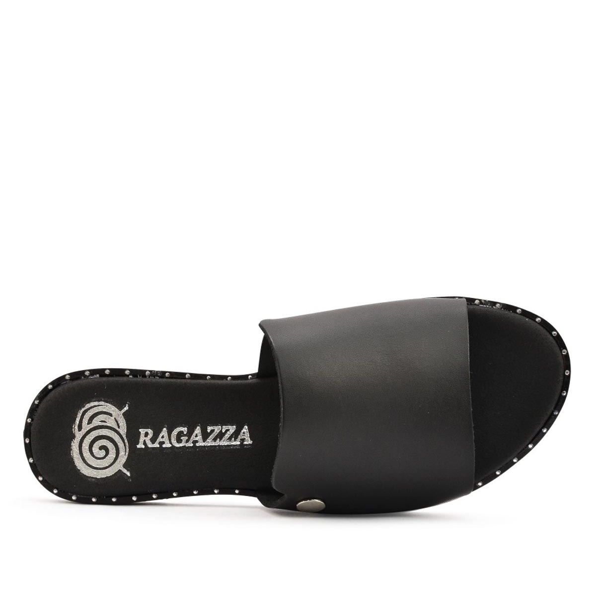 Ragazza Γυναικεία Σανδάλια 0470 Leather Black