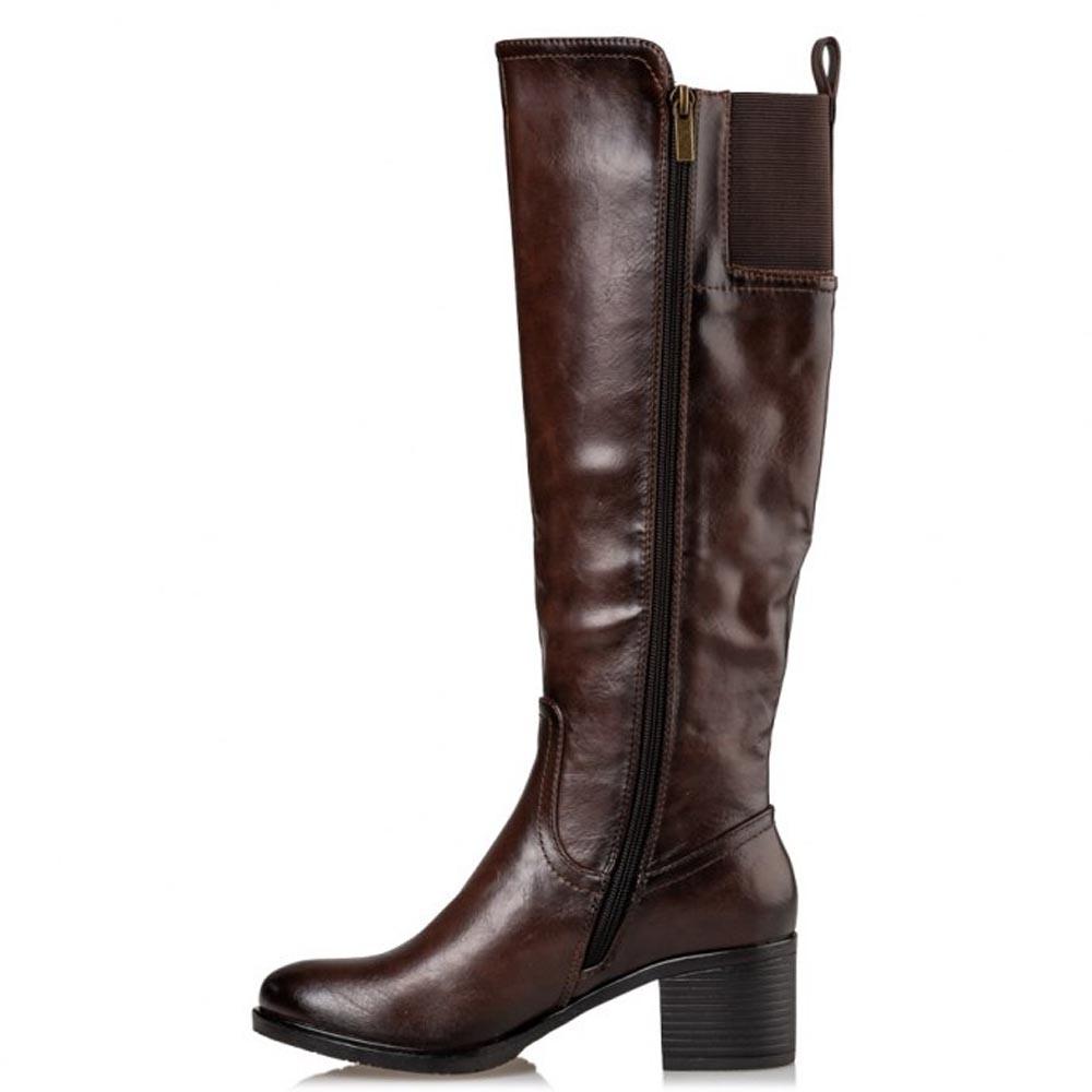 CASUAL BOOTS Μπότες Miss NV τύπου ιππασίας V63-10950.Κ ΚΑΦΕ