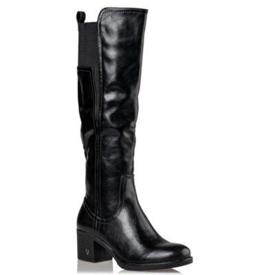 CASUAL BOOTS Μπότες Miss NV τύπου ιππασίας V63-10950.Μ ΜΑΥΡΟ
