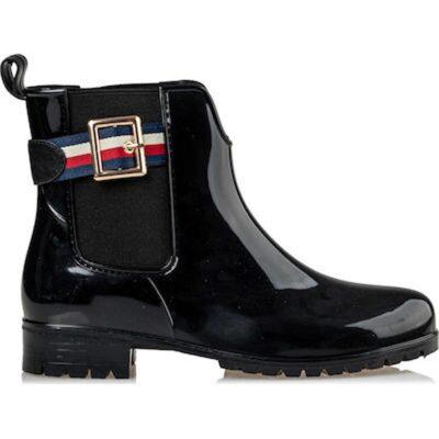 Γυαλιστερά γυναικεία γαλοτσάκια Envie Shoes V22-10069 ΜΑΥΡΟ