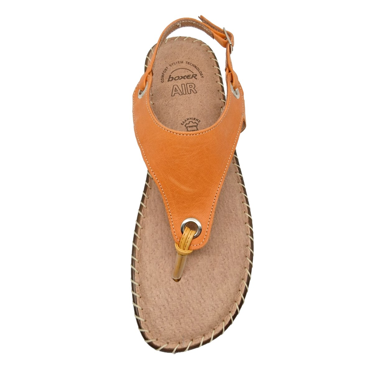 Γυναικείο πέδιλο Boxer 82311 17-237 πορτοκαλί δέρμα