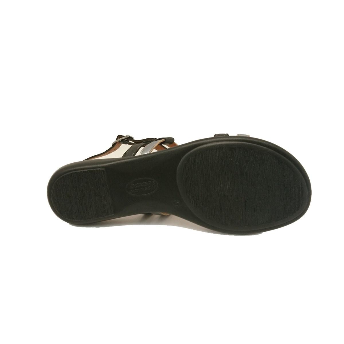 Γυναικεία σανδάλια boxer 82444 17-211 μαύρο δέρμα.