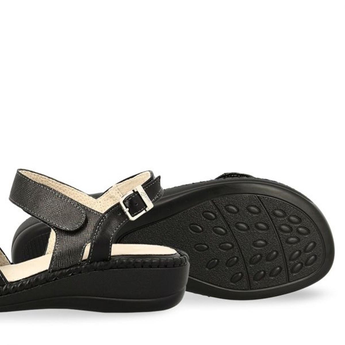 Γυναικεία Comfort Πέδιλα Peep Toe Parex 11617008.B μαύρο