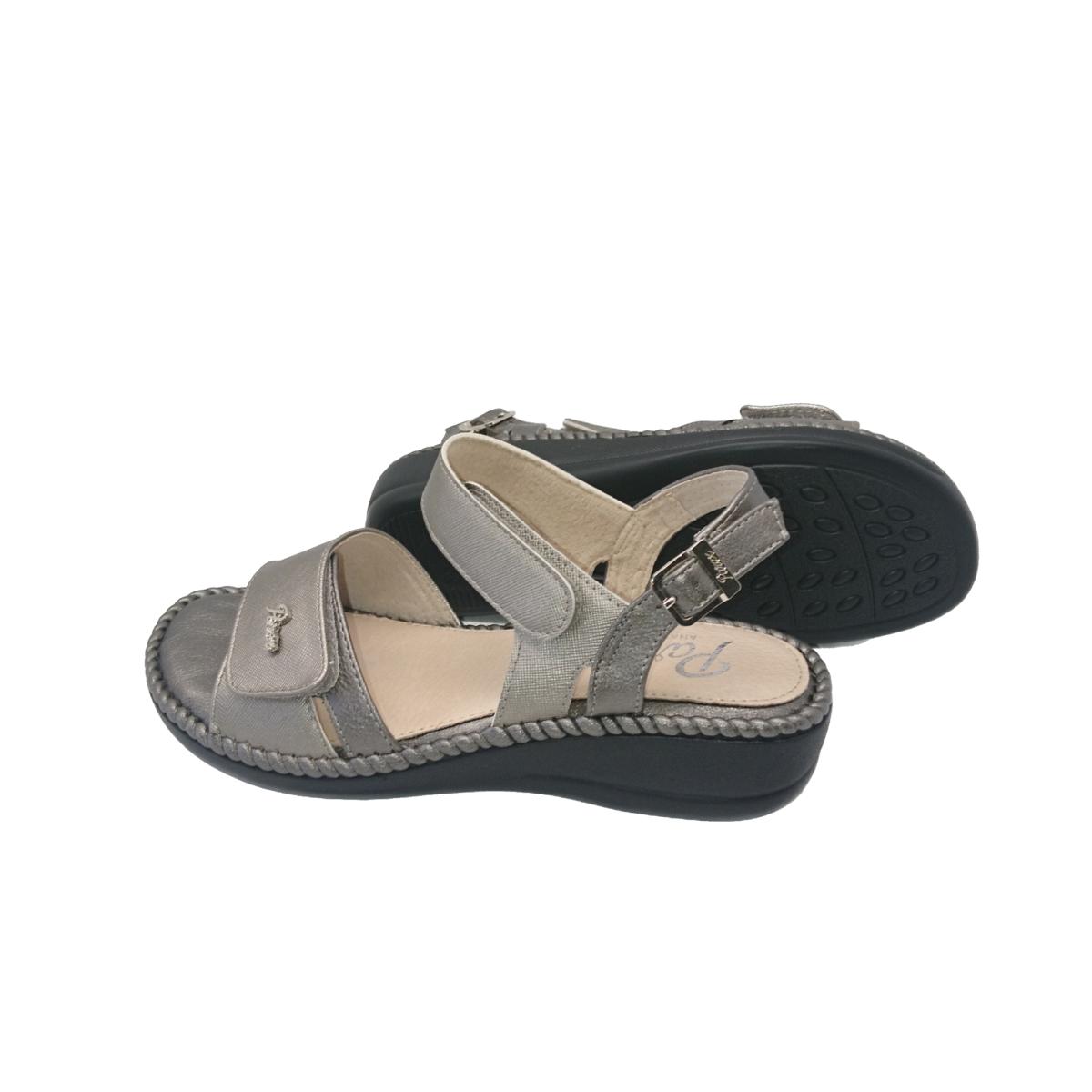 Γυναικεία Comfort Πέδιλα Peep Toe Parex 11617008 Ατσαλί