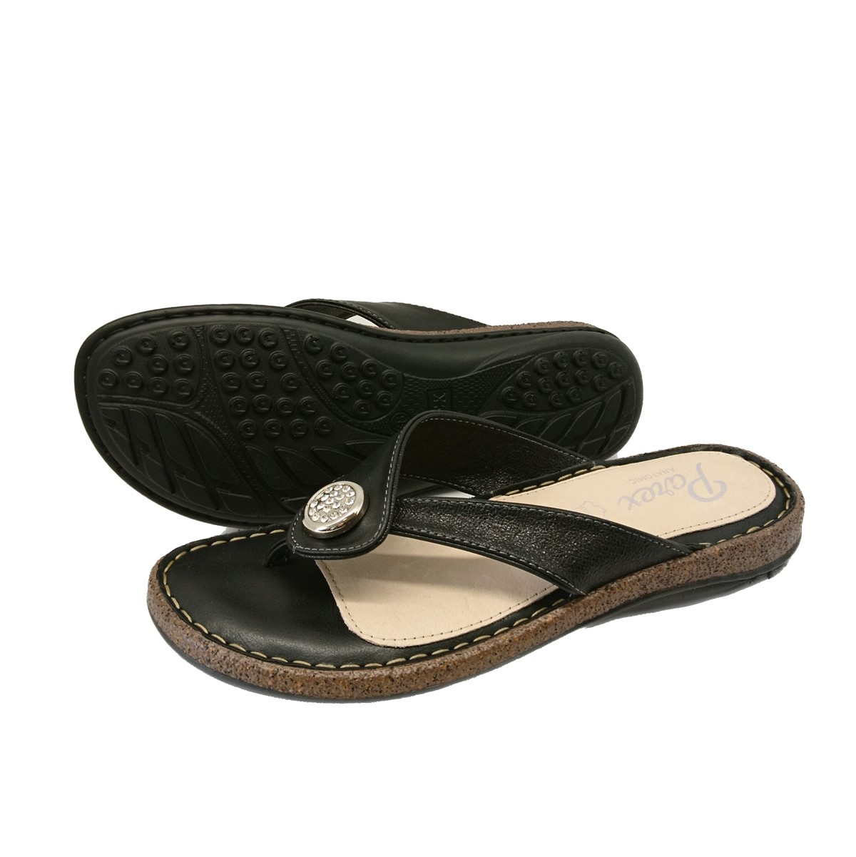 Γυναικείες Σαγιονάρες Comfort Parex 122-19-002.B Μαύρο