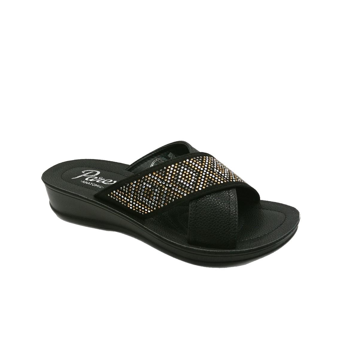 Γυναικείες Παντόφλες Comfort 121-19-014.B Parex Μαύρο