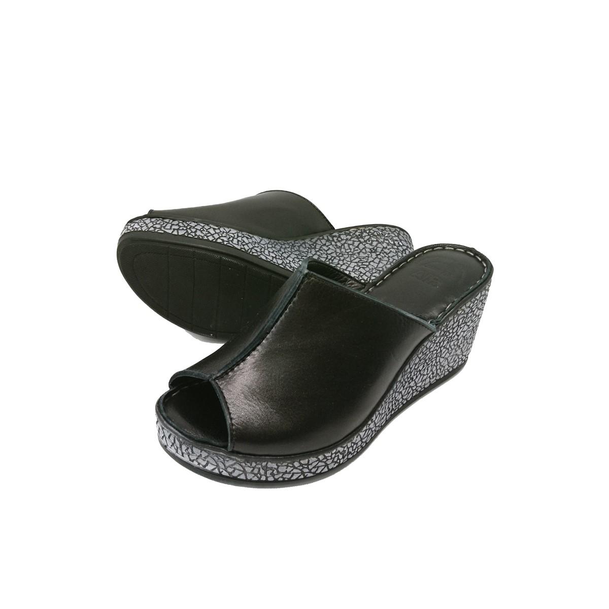 Boxer Sandals 96048 10-011 Πλατφόρμες Μαύρο.