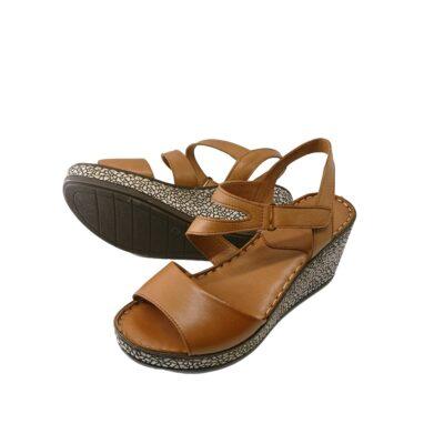 Boxer Sandals 96045 10-019 Πλατφόρμες Ταμπά Δέρμα.
