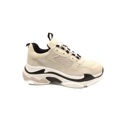 Miss NV Sneakers V49-14095 Μπέζ